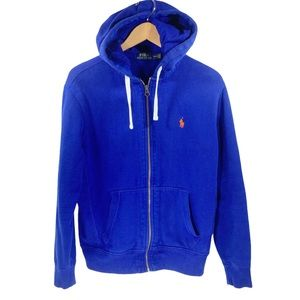 Ralph Lauren Polo Full Zip Hoodie Sweatshirt Blue
